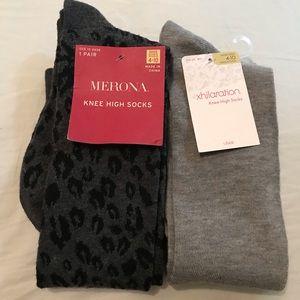 2 pairs Knee High Socks